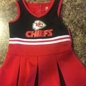 KC Chiefs cheerleading outfit